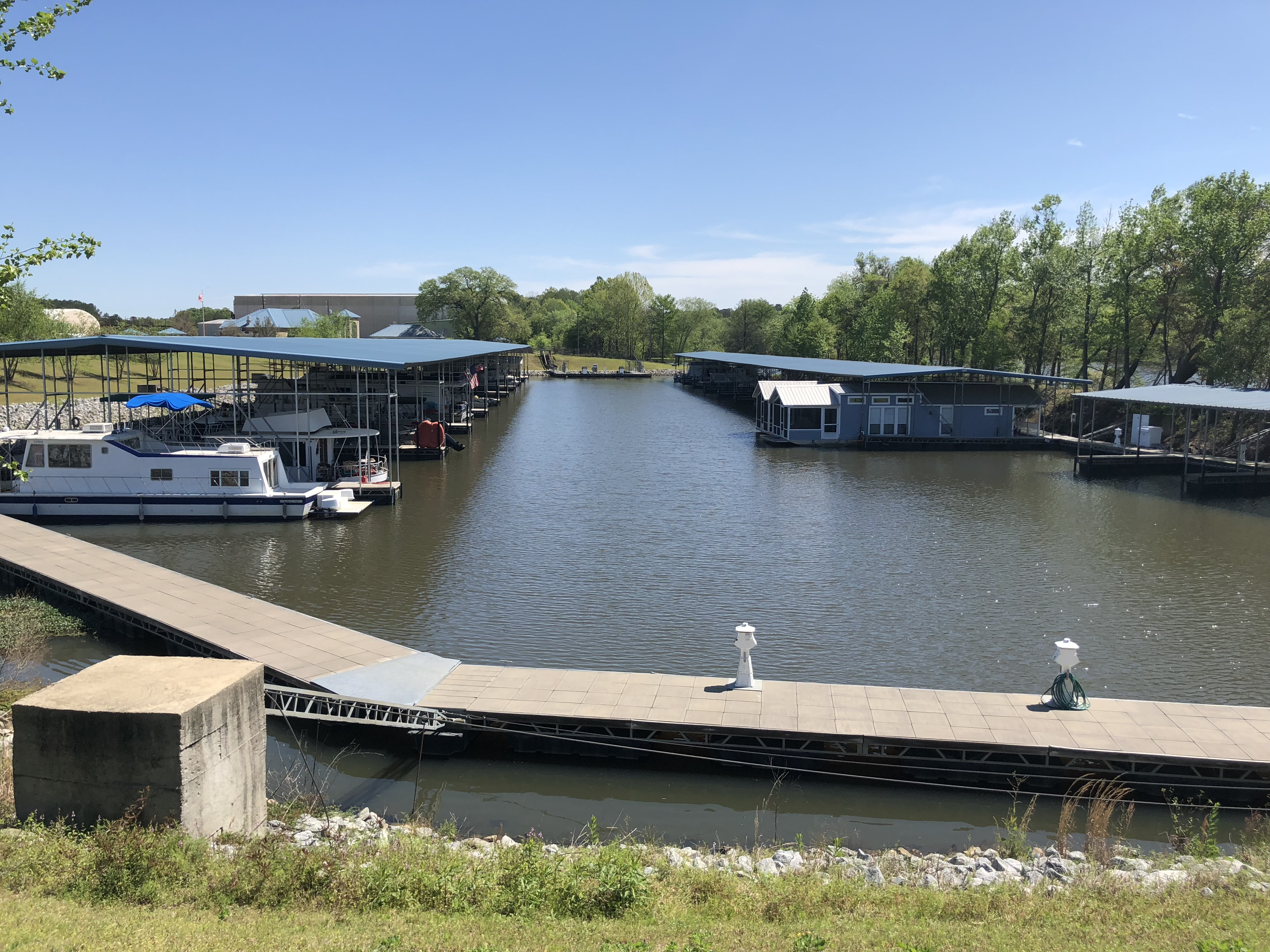 View of Boat Slips from Back Side of Property